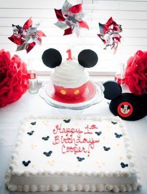 Great idea for Mickey smash cake.  DIY