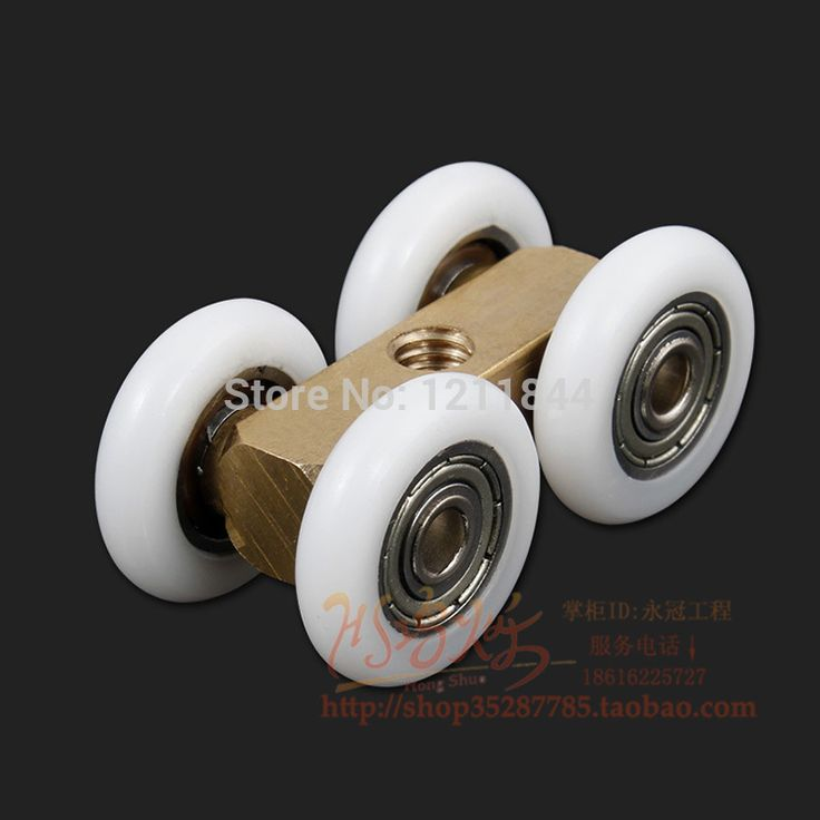 Mute shower room sliding door wheels pulley roller wheels copper wheels broadened big shower door roller for shower room