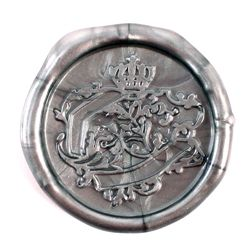 French Crown Document Flexible Wax Seals in Silver or Gold