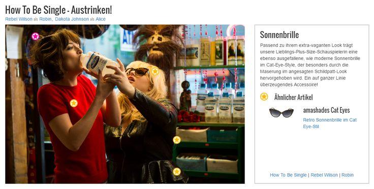 Passend zu ihrem extra-vaganten Look trägt unsere Lieblings-Plus-Size-Schauspielerin eine ebenso ausgefallene, wie moderne Sonnenbrille im Cat-Eye-Style, der besonders durch die Maserung im angesagten Schildpatt-Look hervorgehoben wird. Ein auf ganzer Linie überzeugendes Accessoire!