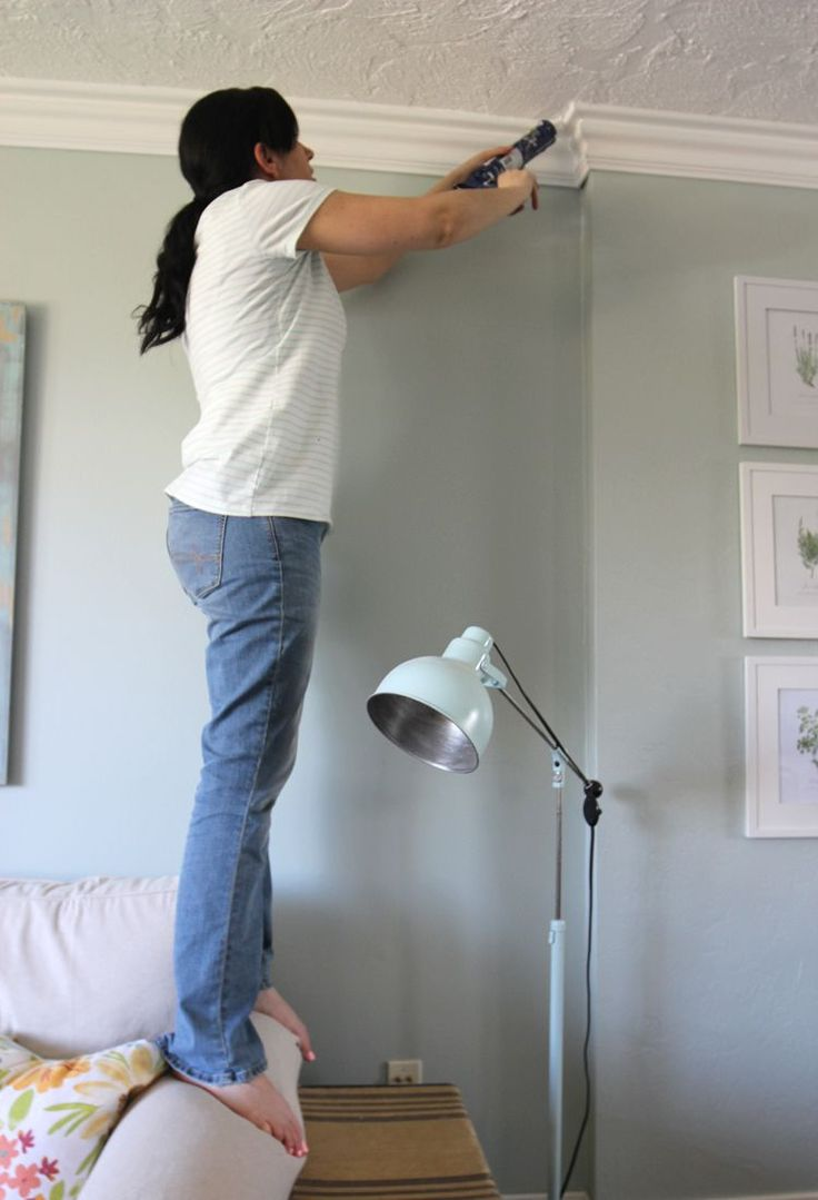 Foam crown molding is simple to install yourself and adds so much character to a room remodel. A DIY home upgrade that is easy for beginners! Honest review of foam crown molding.