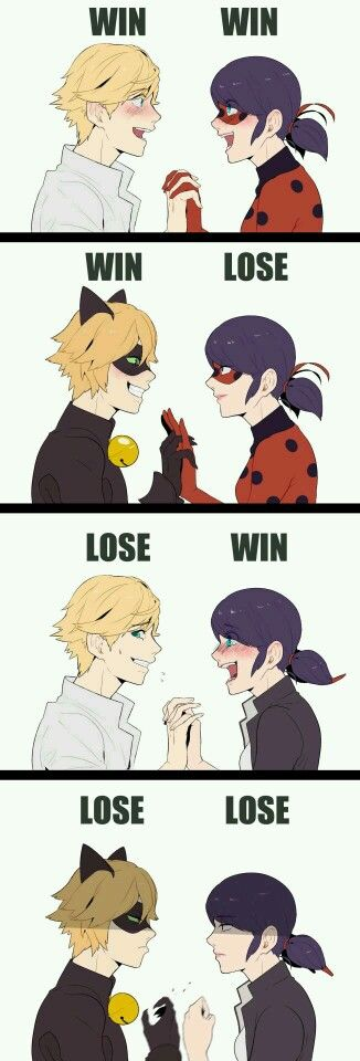 Except not quite so drastic. MariChat are like best buds man!