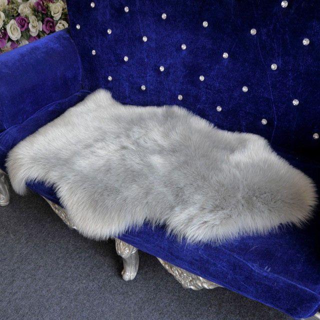 Shaggy Faux Fur Sheepskin Rugs Soft Cozy Fleece Carpet Chair Sofa Mat Seat Pad  #Unbranded #Modern