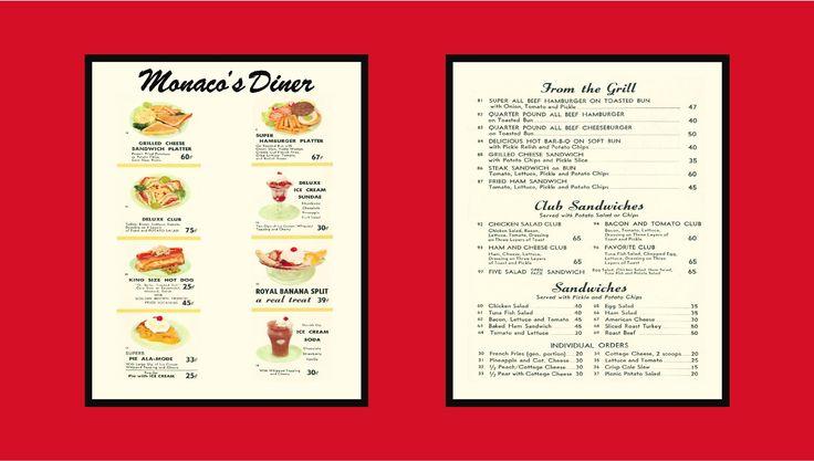 Boulevard Diner Menu