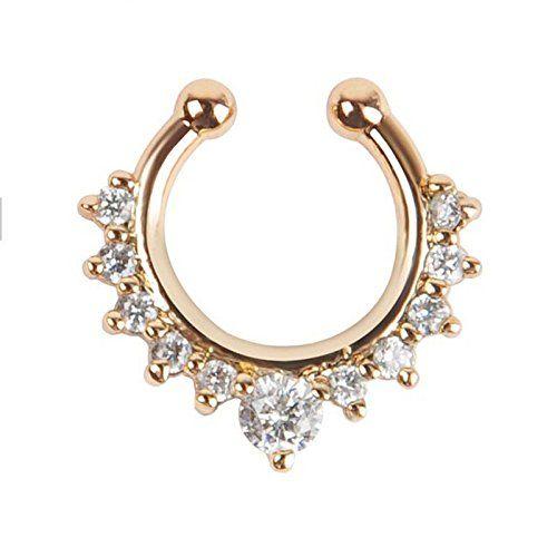 Oasis Plus White Crystal Gold Clip On Septum Fake Nose Ring Hoop Non Piercing Hanger Nose Rings Stud Body Jewelry Oasis Plus http://www.amazon.com/dp/B011V91V38/ref=cm_sw_r_pi_dp_2TEhwb0004TC6