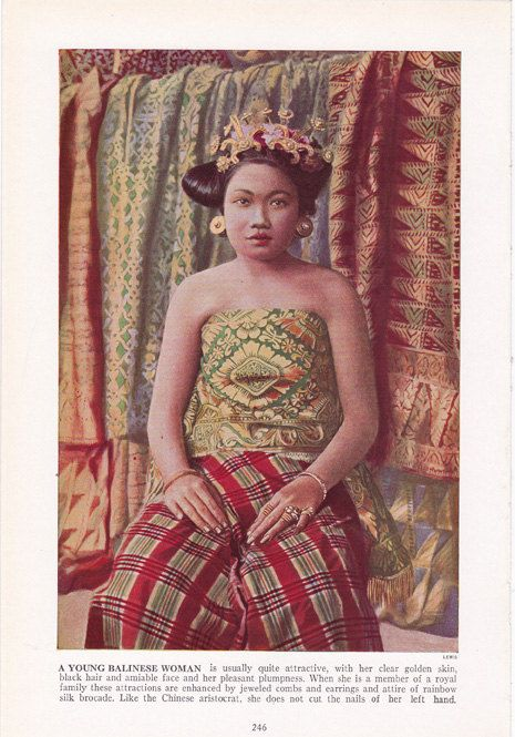 Young Balinese Woman - Bali girl - color plate from by route44west, $10.00
