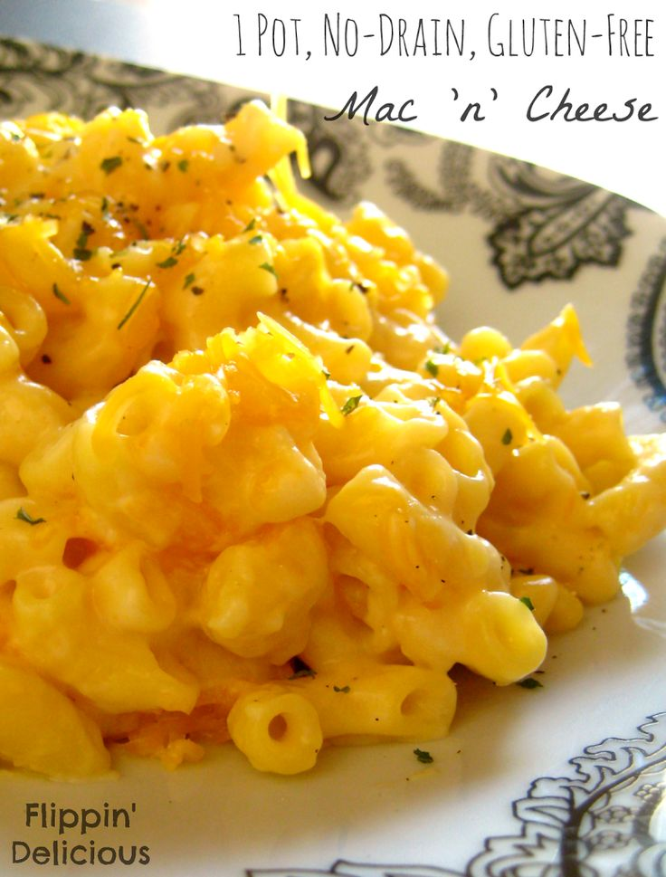 The easiest Mac 'n' Cheese you will ever make! Gluten-free, 1 pot, no-drain macaroni and cheese is just as easy as using a box but it costs less and tastes way better.
