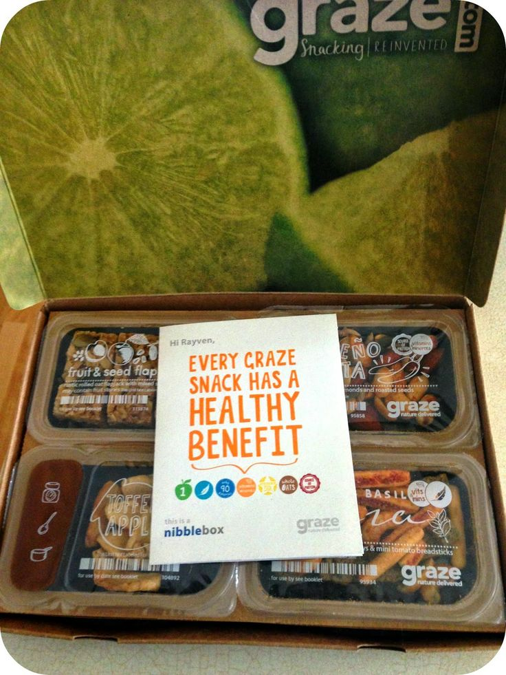 Graze Box: I started getting these delivered to me weekly and I absolutely love them!