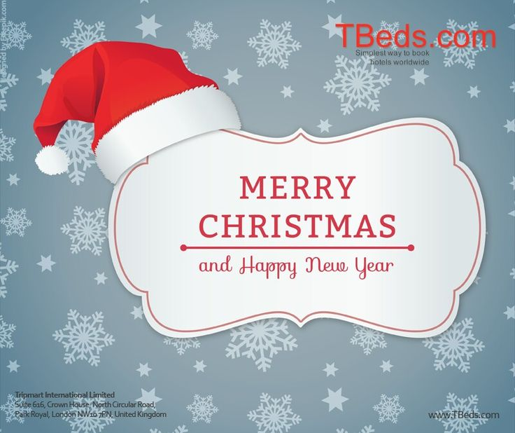 Merry #Christmas and a Happy #NewYear from all of us at #TBeds.com