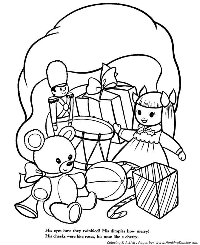 Best 100 the night before christmas images on pinterest for The night before christmas coloring pages