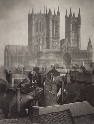Frederick H. Evans. Lincoln Cathedral: From the Castle. 1898