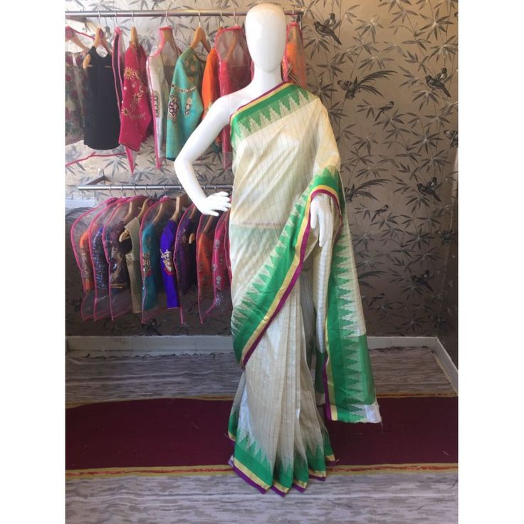 Stylish Greenoffwhite Color Pure Cottan Silk Saree at just Rs.999/- on www.vendorvilla.com. Cash on Delivery, Easy Returns, Lowest Price.