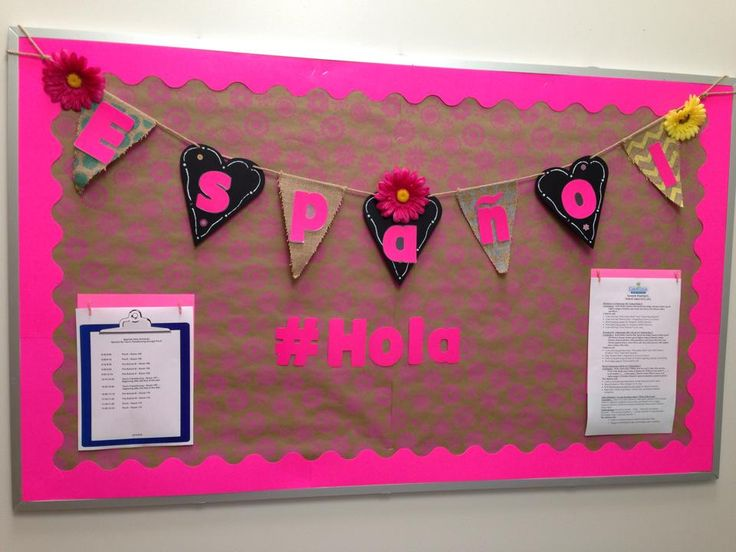 17 best ideas about spanish bulletin boards on pinterest for Hobby lobby bulletin board letters