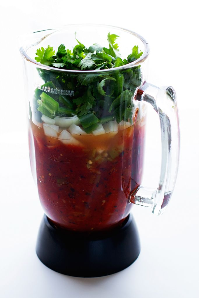 5 Minute Restaurant-Style Blender Salsa Recipe | Little Spice Jar