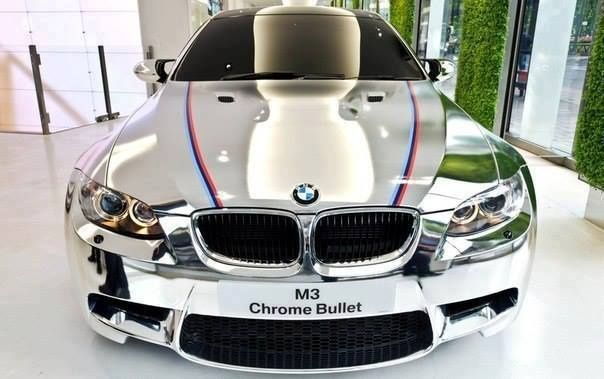 Visit The MACHINE Shop Café... ❤ Best of BMW @ MACHINE ❤  (Chrome Painted BMW Coupé)