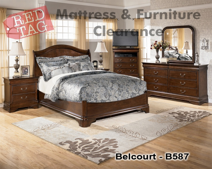 $369.99  The Medium Brown Finish Of The U201cBelcourtu201d Bedroom Collection Flows  Smoothly Over