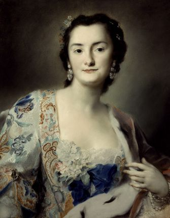 Ritratto della contessa Anna Katharina Orzelska; Rosalba Carriera; pastello; ritratto; 1730; Museo statale Ermitage, San Pietroburgo, Russia.