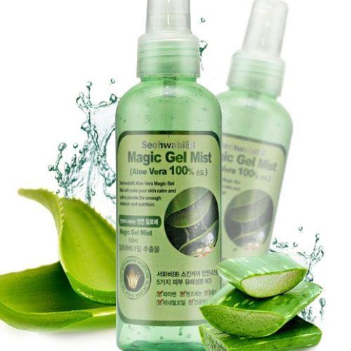 Korean Cosmetics Aloe Vera Gel Mist Intense Moisturizing Hydration Cooling Skin #Seohwabi88