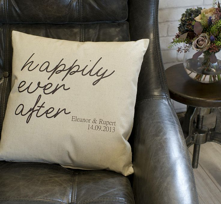 Personalised Engagement Gift Cushion from notonthehighstreet.com