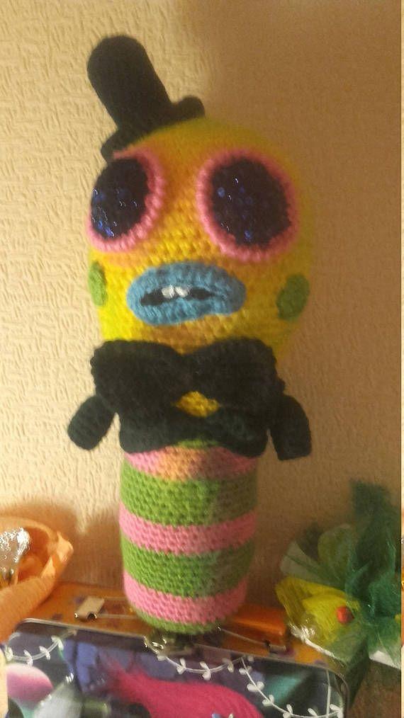 Mr Dinkles Crochet Toy Trolls Plush Toy Caterpillar Soft Toy Troll