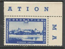 GB/UK 1937 GVI Coronation poster stamp/label (Windsor Castle)