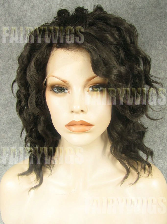 Exquisite Medium Sepia Female Wavy Lace Front Hair Wig 14 Inch