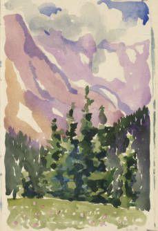 Long Lake, Colorado by Georgia O'Keeffe, 1918. Graphite on paper