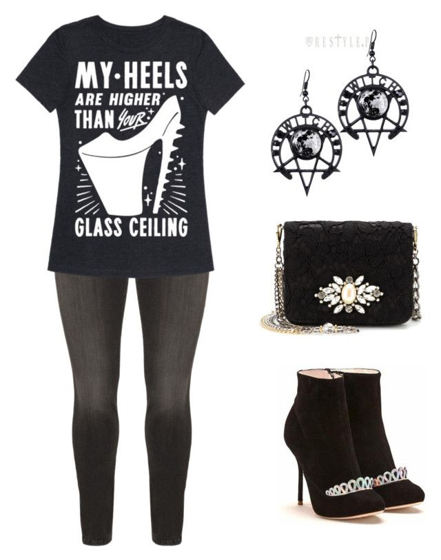 """""""Break the glass ceiling"""" by whiterabbithansy on Polyvore featuring NYDJ and Dolce&Gabbana"""