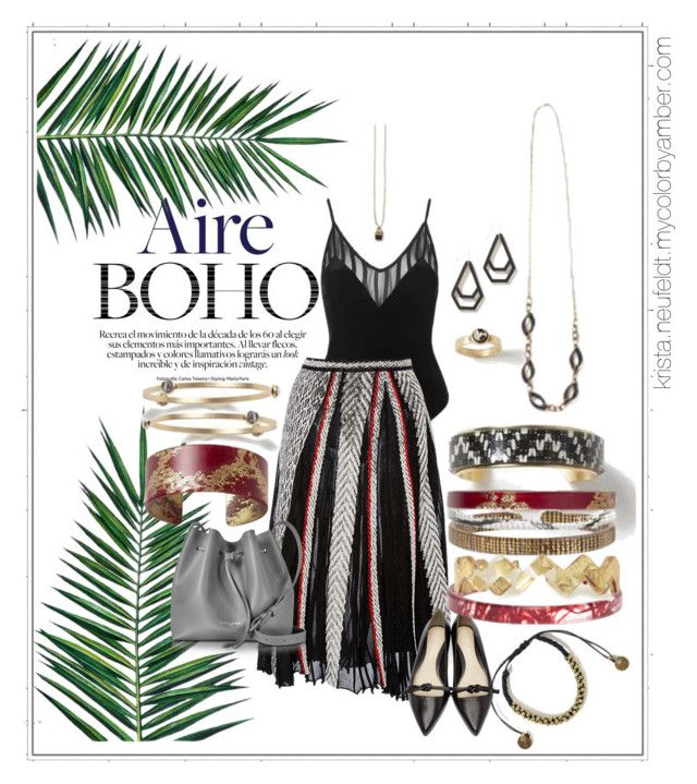 """bohochic"" by kristacbastylist on Polyvore featuring Topshop, Nika, Roberto Cavalli, Lancaster, 3.1 Phillip Lim and AMBRE"