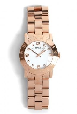 Amy Rose Gold Link Watch by Marc By Marc Jacobs