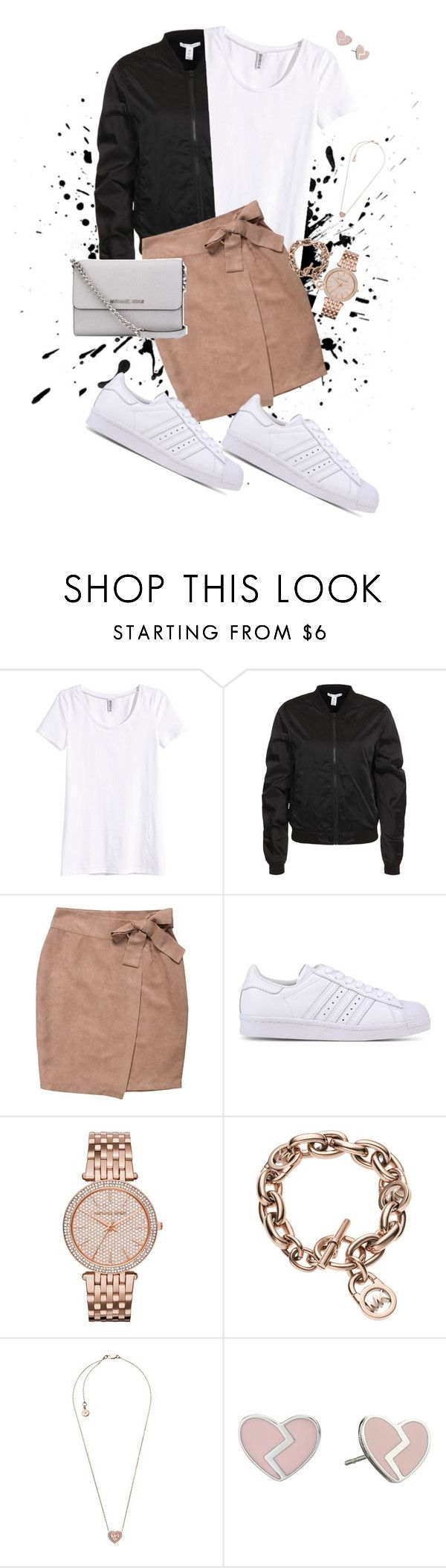 sb by louisesandstroms on Polyvore featuring H&M, adidas Originals, MICHAEL Michael Kors and Marc by Marc Jacobs