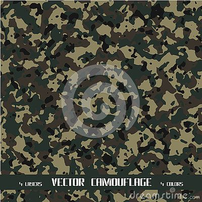 Vector camouflage background with four layers