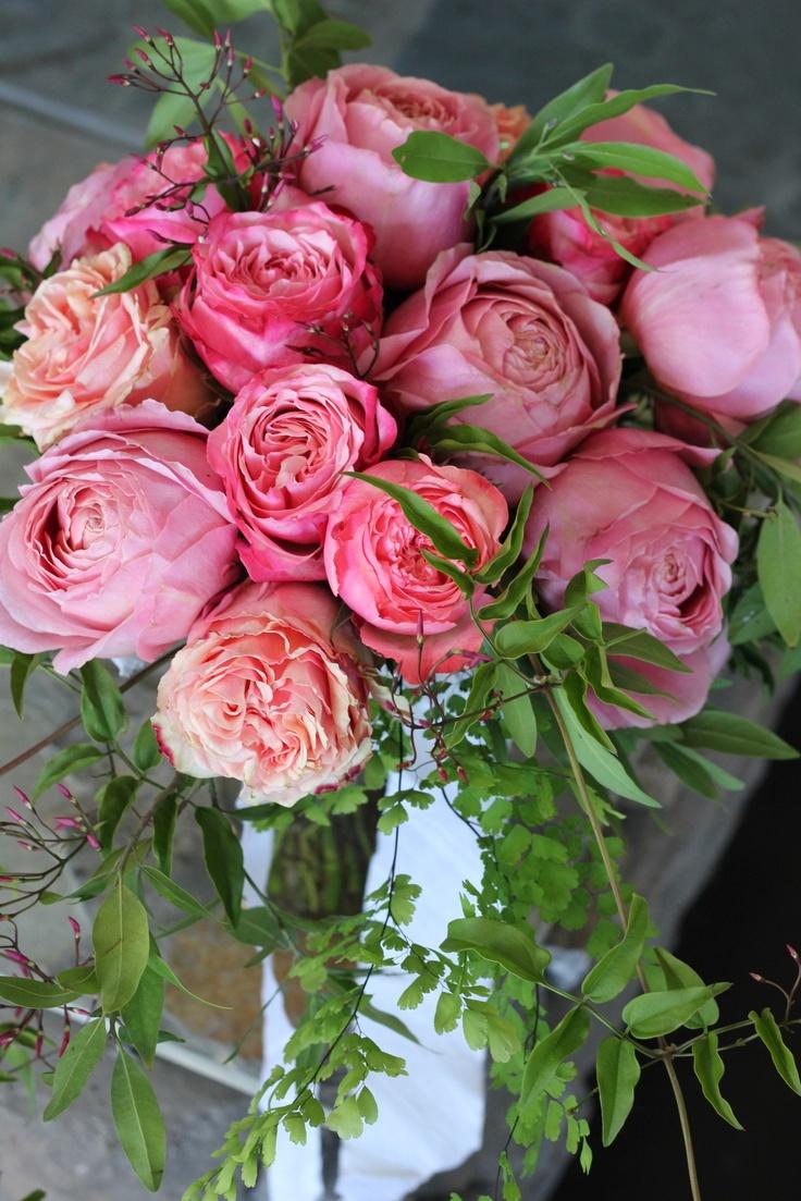 Carondelet House Wedding Garden Rose Bouquet By Floret Cadet  (www.floretcadet.com)