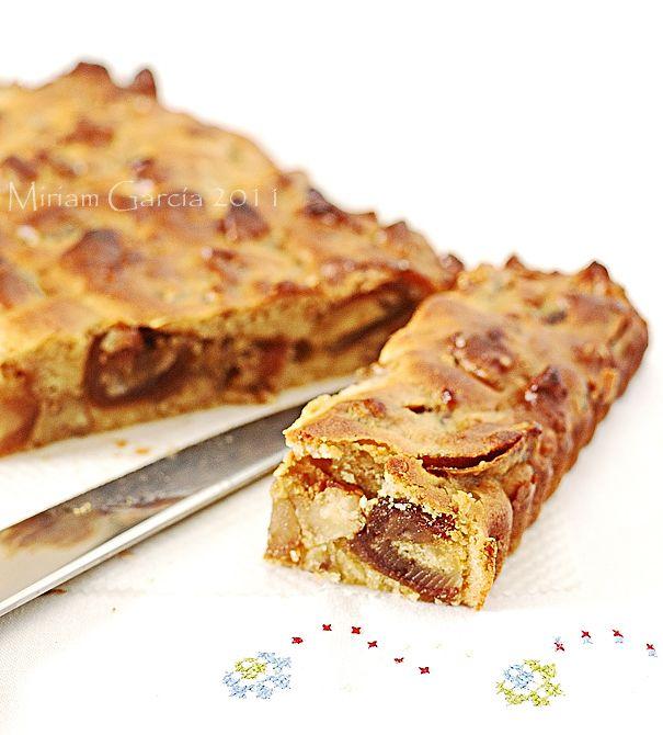 Pastel de dátiles y nueces sin gluten