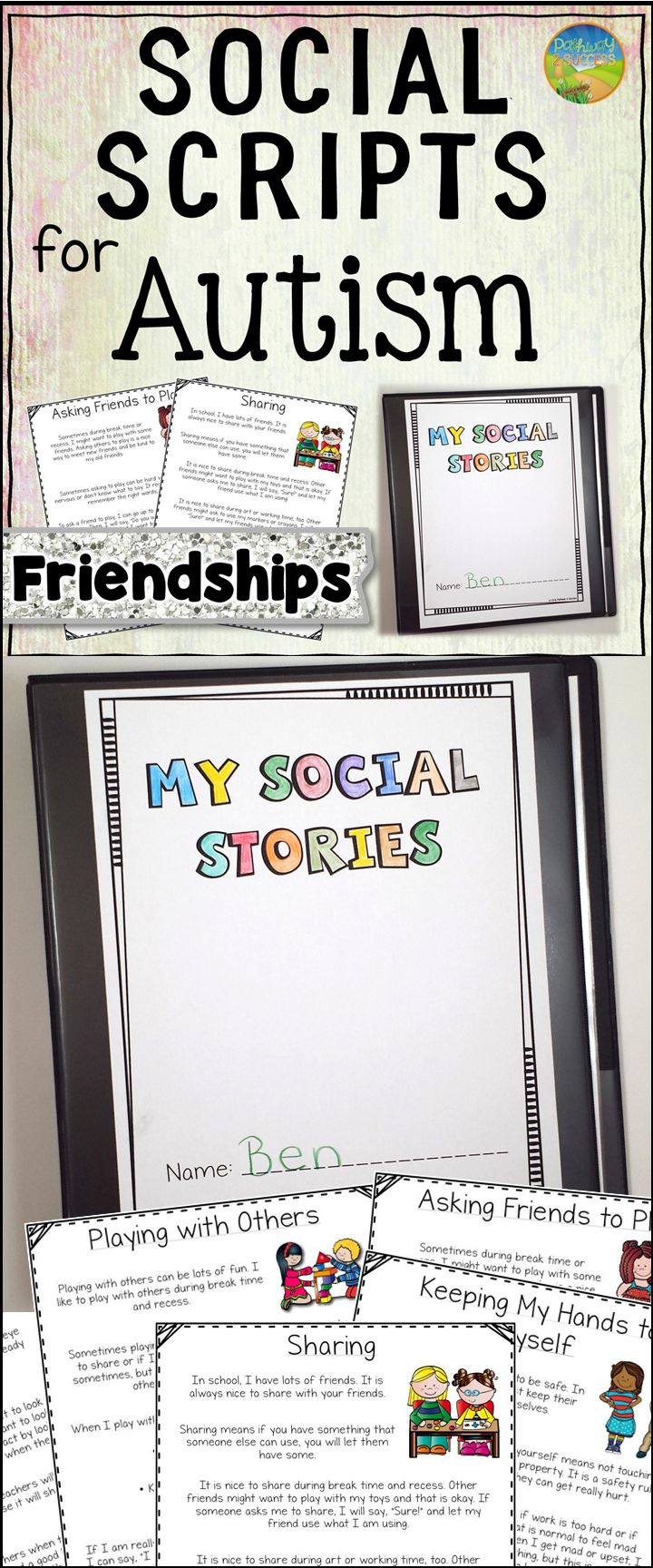 Social Scripts for Autism - Teaching about Friendship Skills