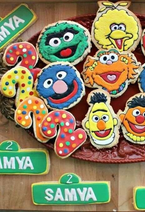 Sesame Street Birthday Party cookies! See more party planning ideas at CatchMyParty.com!