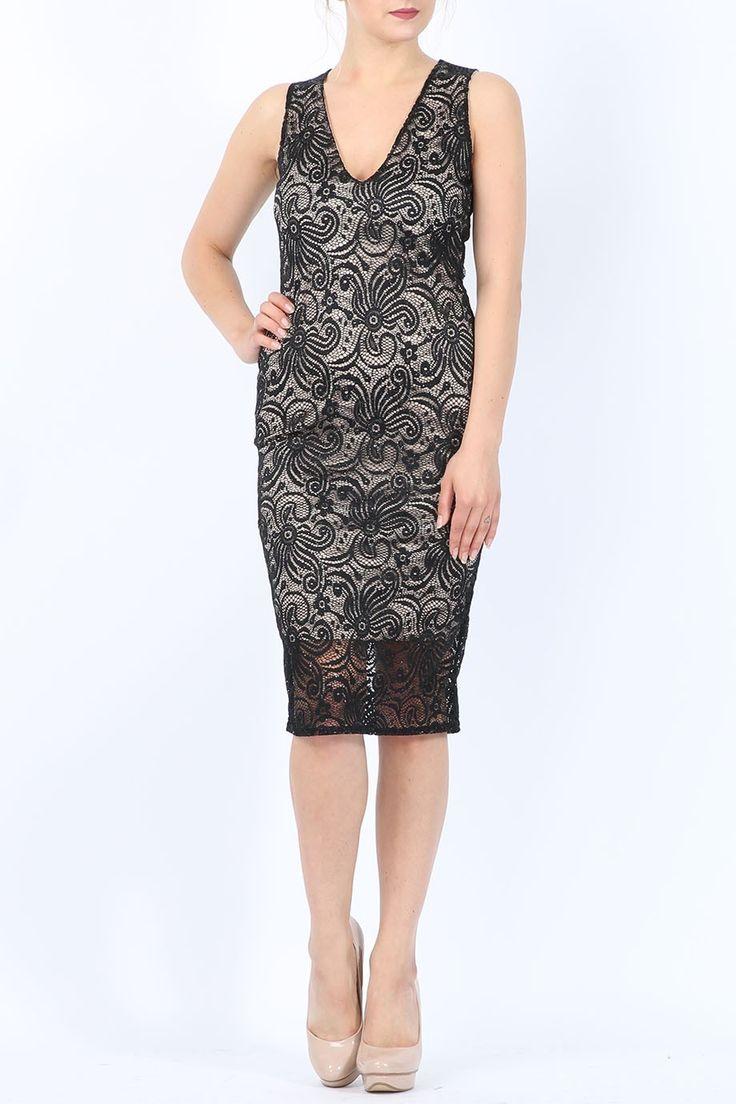 chic glitter V φόρεμα δαντέλα 26,70 €