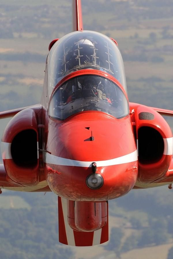 Up close with The Red Arrows.