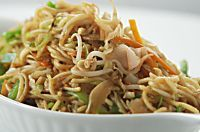 How to make Pad Thai Yum Yum Noodles-Flat noodles cooked with colourful vegetables and roasted peanuts in Thai style.
