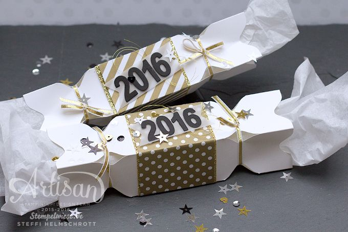 Artisan - Stampin' Up! - New Year's Eve Poppers Cracker - Knallbonbon - Silvester ❤︎ Stempelwiese