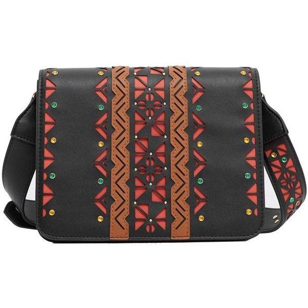 MANGO Laser-Cut Design Bag ($80) ❤ liked on Polyvore featuring bags, handbags, mango bags, long purses, long bag, laser cut bag et mango purse
