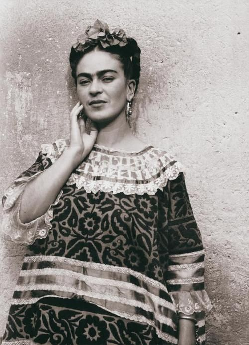 Frida Kahlo in her beautiful Mexican clothes