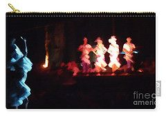 Carry-all Pouch featuring the digital art Dancer And Musicians by Francesca Mackenney