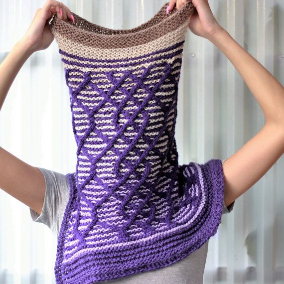 Knitting pattern Patron tricot PDF  Cadence Cowl by TheEasyDesign