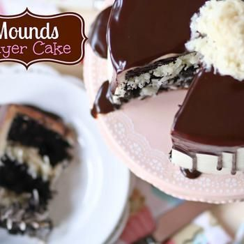 Mounds Layer Cake Recipe - Confessions of a Cookbook Queen & ZipList