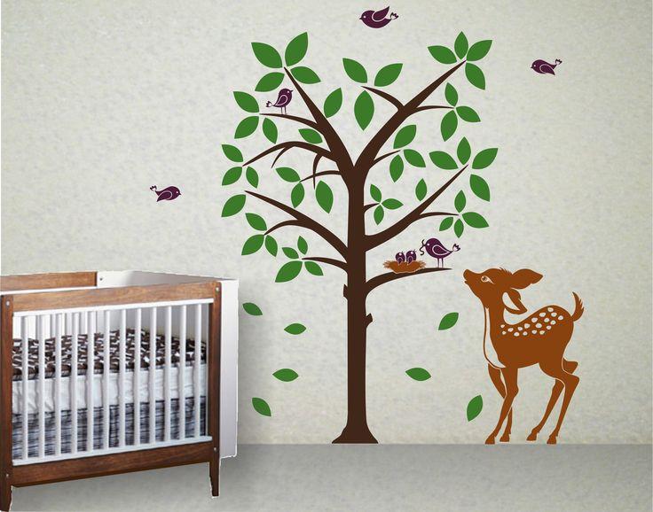 Best Kids Nursery Wall Decals Images On Pinterest Nursery - Bambi love tree wall decals
