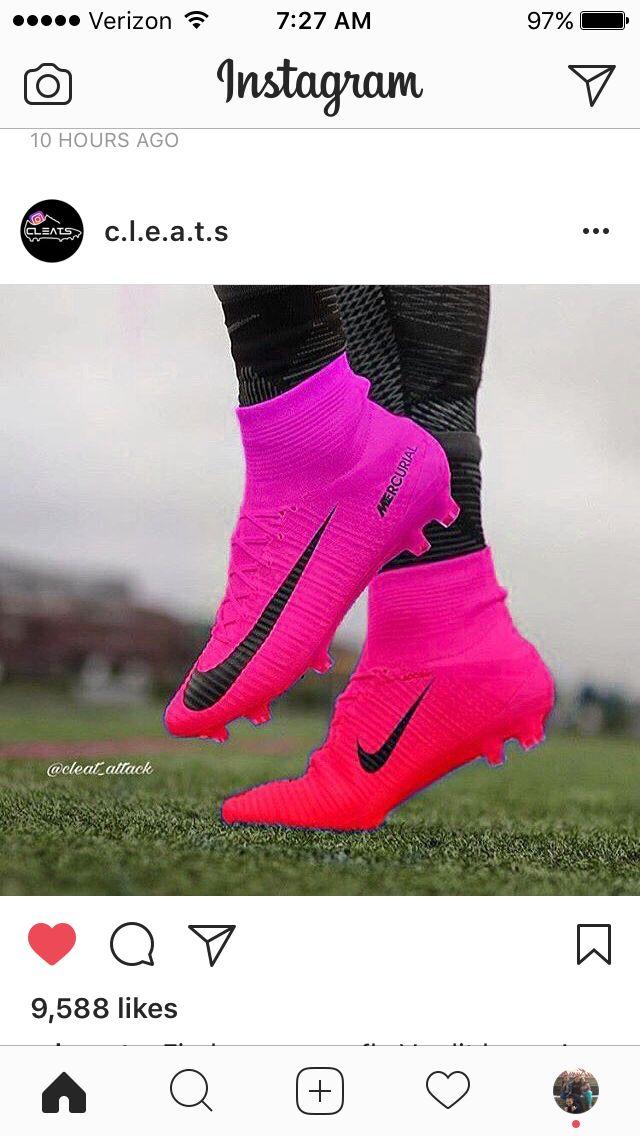 Bright Nike Mercurial Cleats