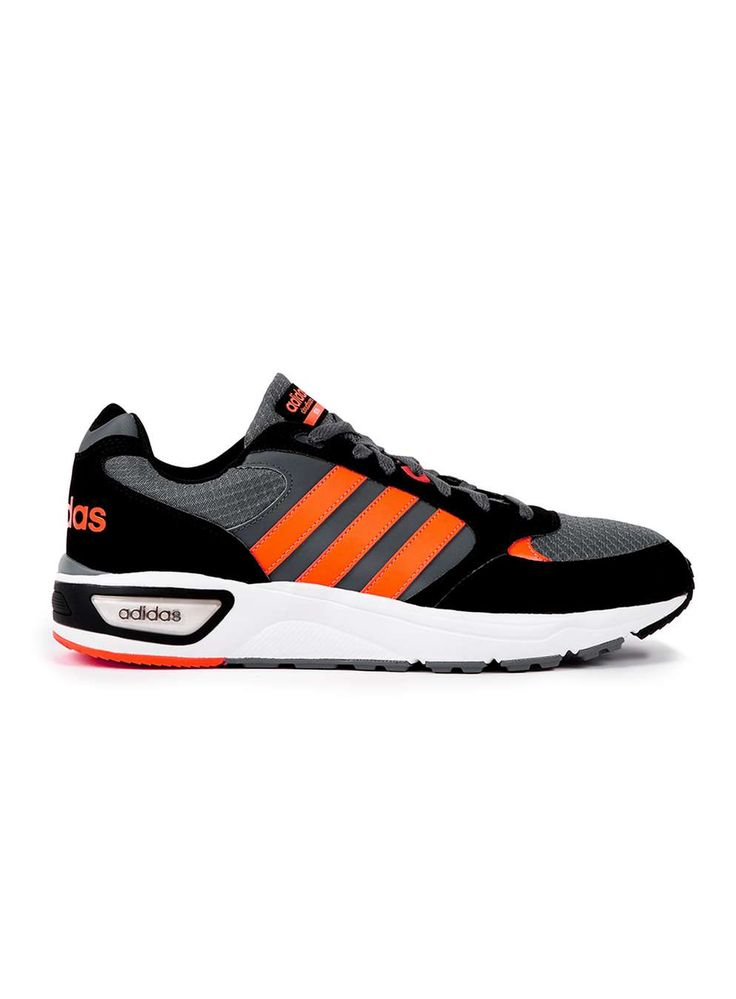 Adidas Neo Cloudfoam Black, Grey and Orange Trainers - Adidas Neo - Brands - TOPMAN EUROPE