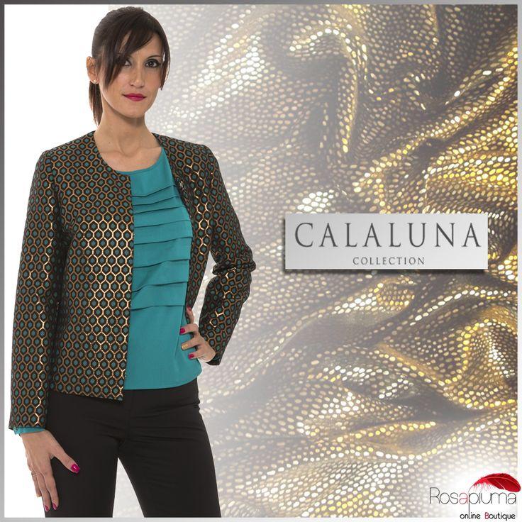 Accendi il tuo #weekend con un tocco di luce e indossa questa giacca broccata Calaluna per una mise elegante e raffinata.  #Rosapiumaboutique >> http://bit.ly/1MGT708  #rosapiuma #calaluna #jacket #beautiful #instagood #curvy #fashioncurvy