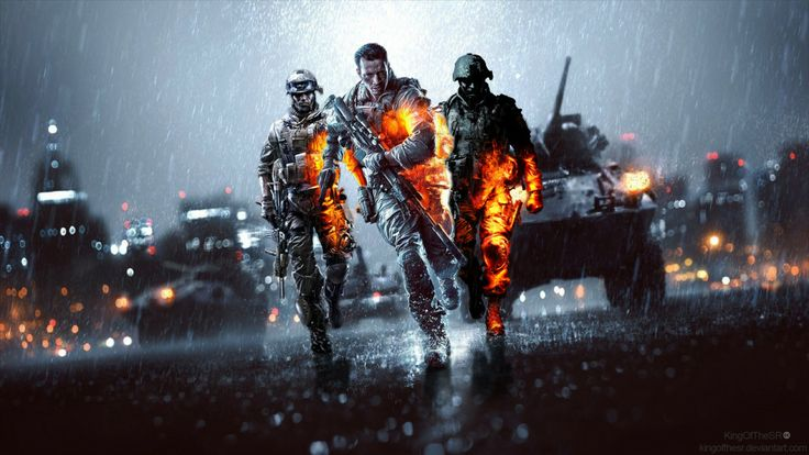Cool Battlefield 4 Fire Armor In Black Background: Battlefield 4 Wallpaper & Digital Fan Artwork